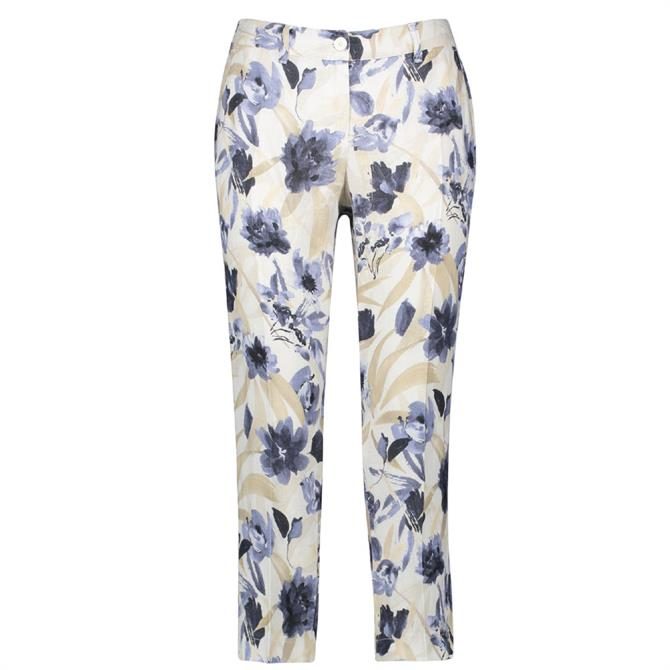 Gerry Weber Floral Print Cropped Trousers