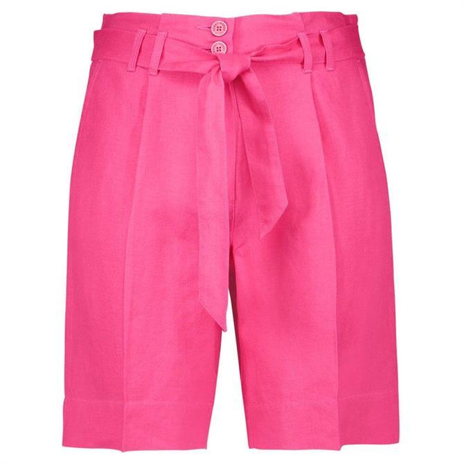 Gerry Weber Tie-Belt Linen Shorts