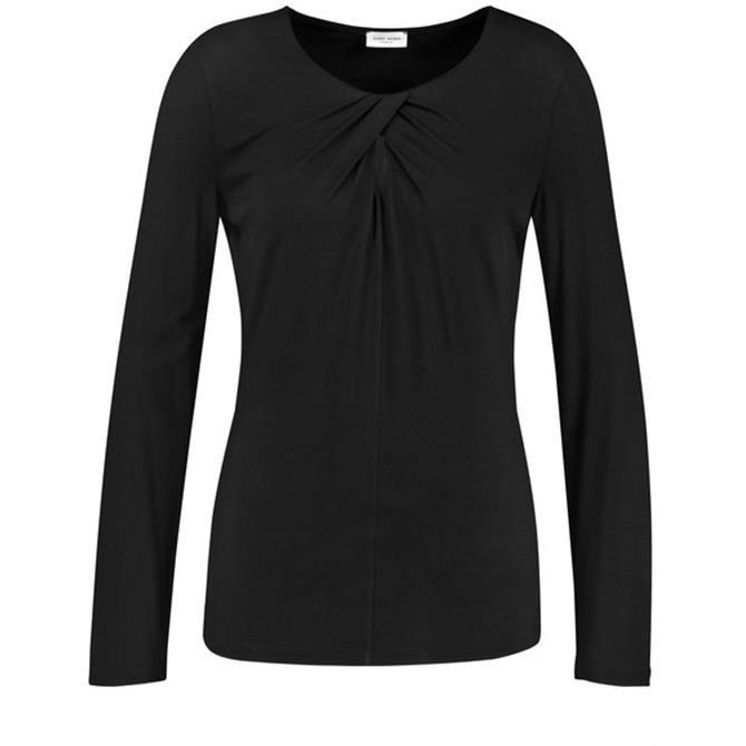 Gerry Weber Long Sleeve Braided Black Top