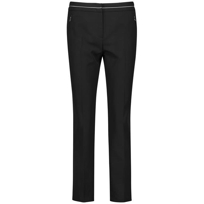 Gerry Weber Pressed Pleat Black Trousers
