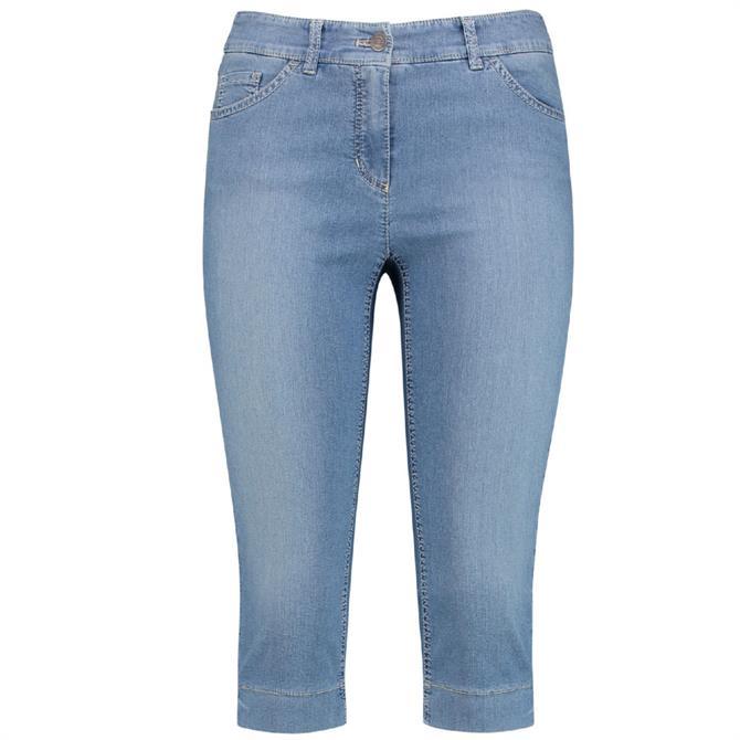Gerry Weber Stretch Denim Look Capri Trousers