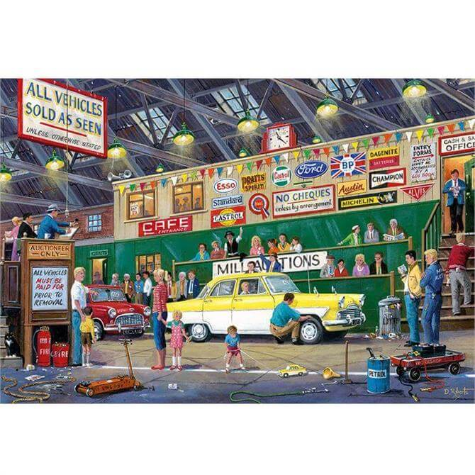Gibsons Going Once Going Twice 1000 Piece Jigsaw Puzzle