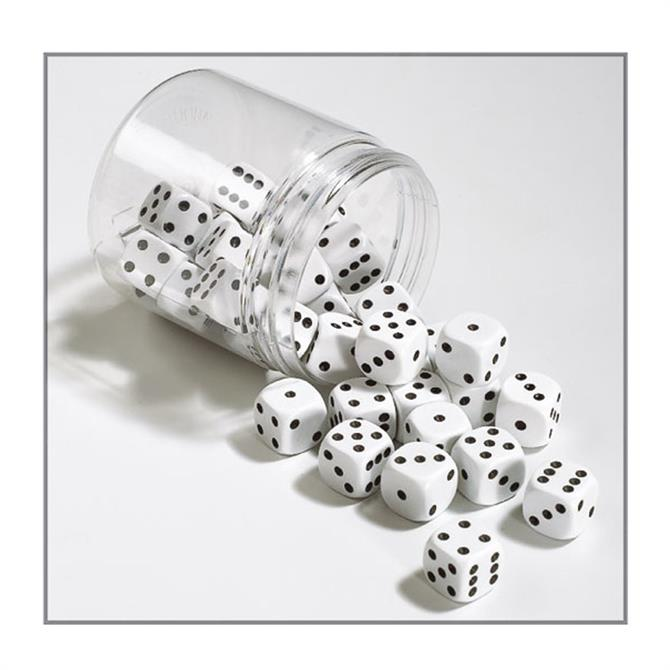 Gibsons White 16mm Dice