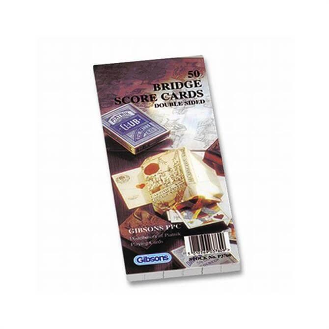 Gibsons Piatnik Cards Bridge Score Cards