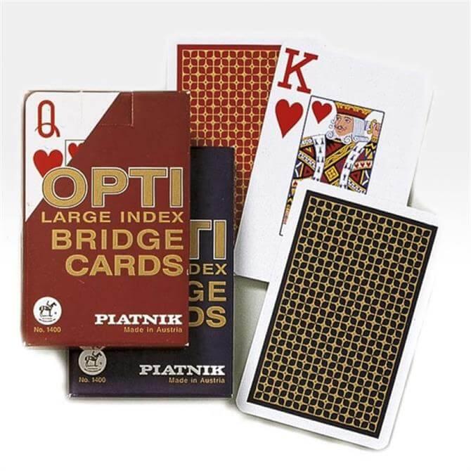 Gibsons Piatnik Cards Opti Bridge