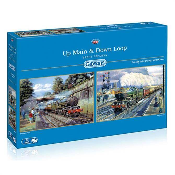 Gibsons Up Main & Down Loop 2 x 500 Jigsaw Puzzle