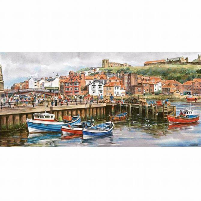 Gibsons 636 Piece Whitby Harbour Jigsaw Puzzle