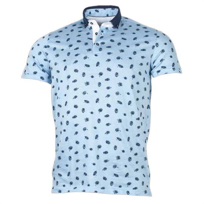 Giordano Basil Floral Print Polo Shirt