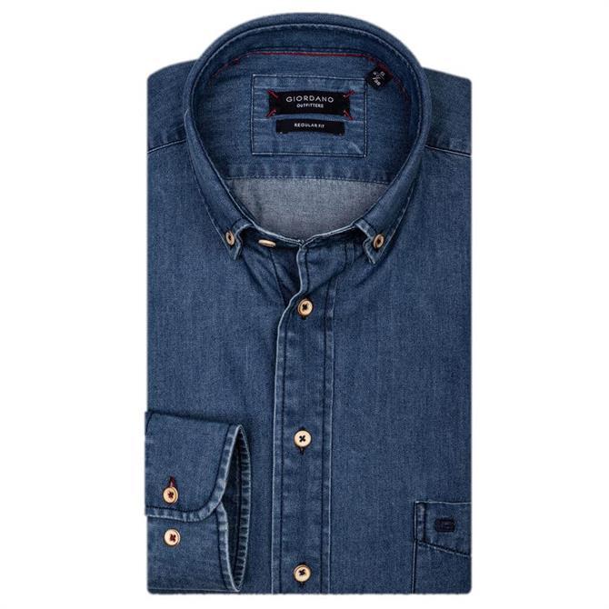 Giordano James Long Sleeve Denim Shirt