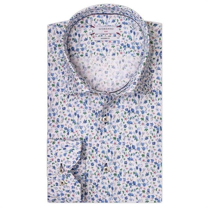 Giordano Maggiore LS Cutaway Mini Floral Print Shirt