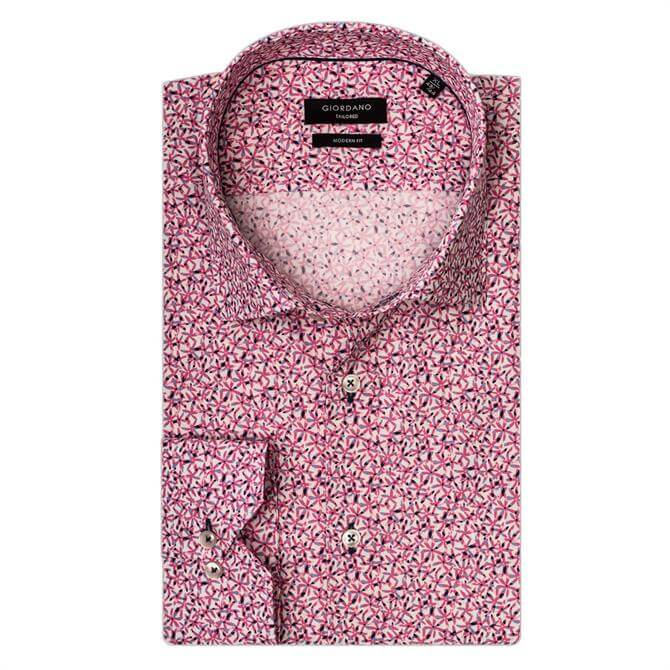 Giordano Maggiore LS Cutaway Abstract Floral Shirt