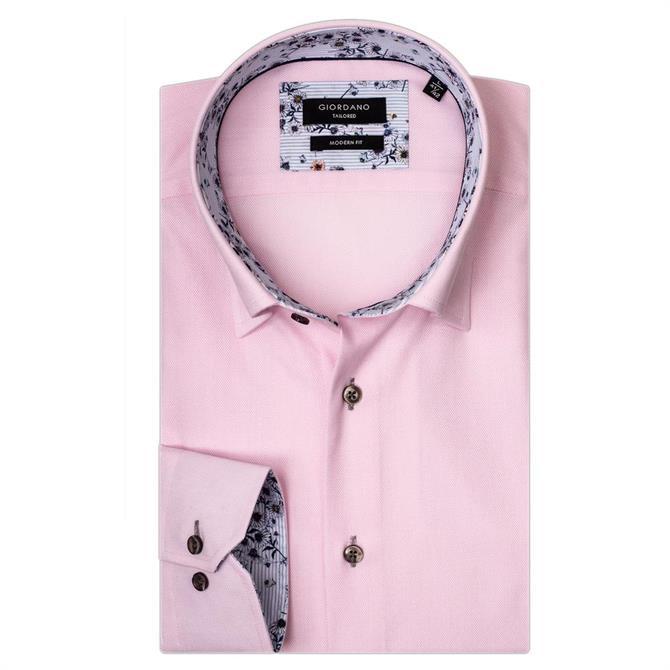 Giordano Brighton LS Button Under Pink Shirt