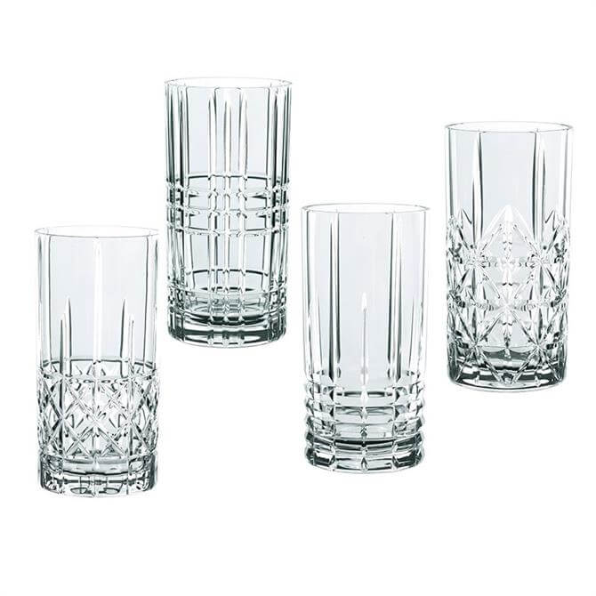 Nachtmann Highland Crystal Long Drink Glasses: Set Of 4
