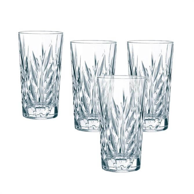 Nachtmann Imperial Crystal Long Drink Glasses: Set of 4