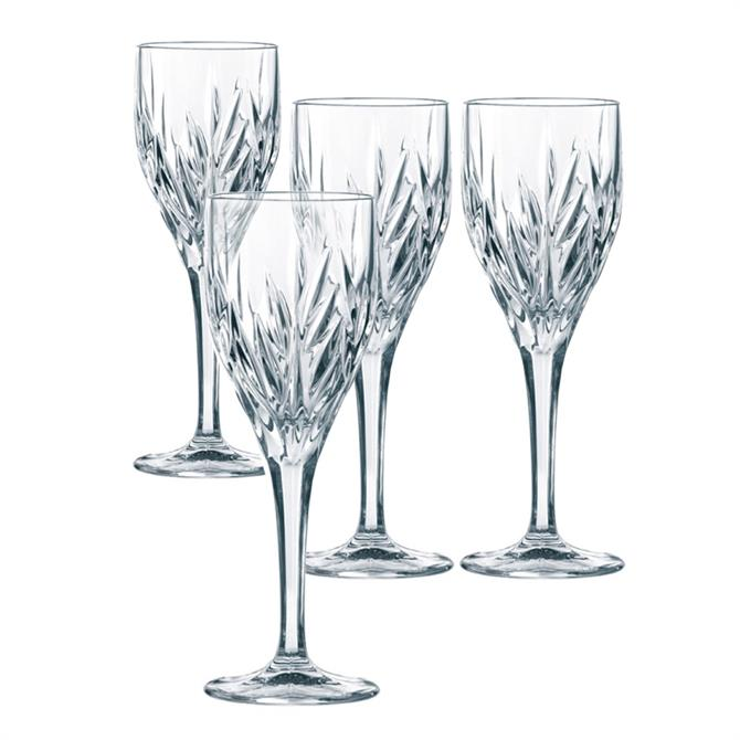 Nachtmann Imperial Crystal All Purpose Stem Glass: Set Of 4