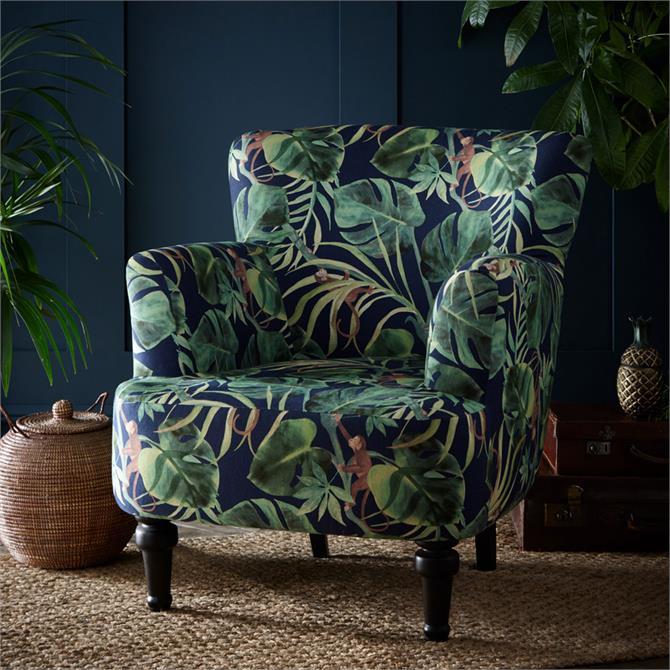 Dalston Chair In Monkey Business Indigo