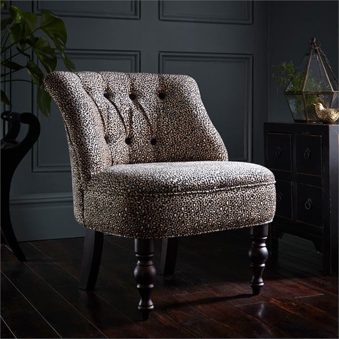 Odette Chair In Ocelot Ebony