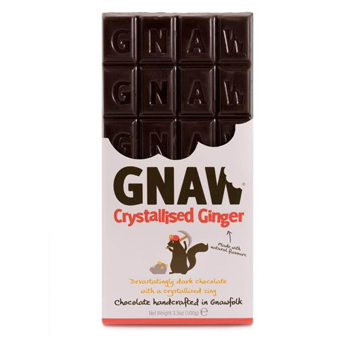 Gnaw Crystallised Ginger Dark Chocolate Bar 100G