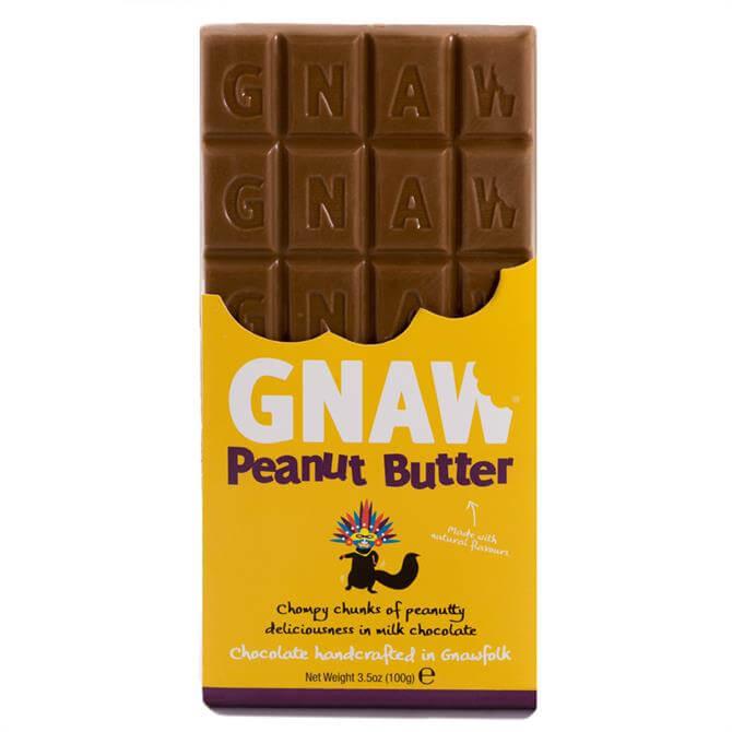 Gnaw Peanut Butter Milk Chocolate Bar 100g