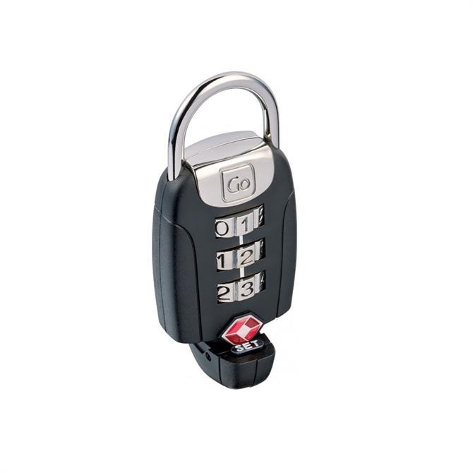 Go Travel Big Dial Twist n Set Lock- Black