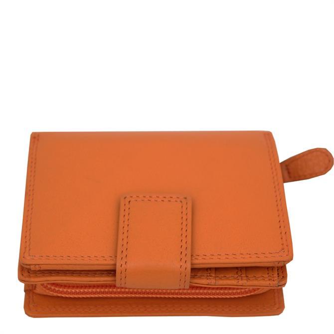 Graffti Real Leather RFID Protected Ladies Medium Flapover Purse