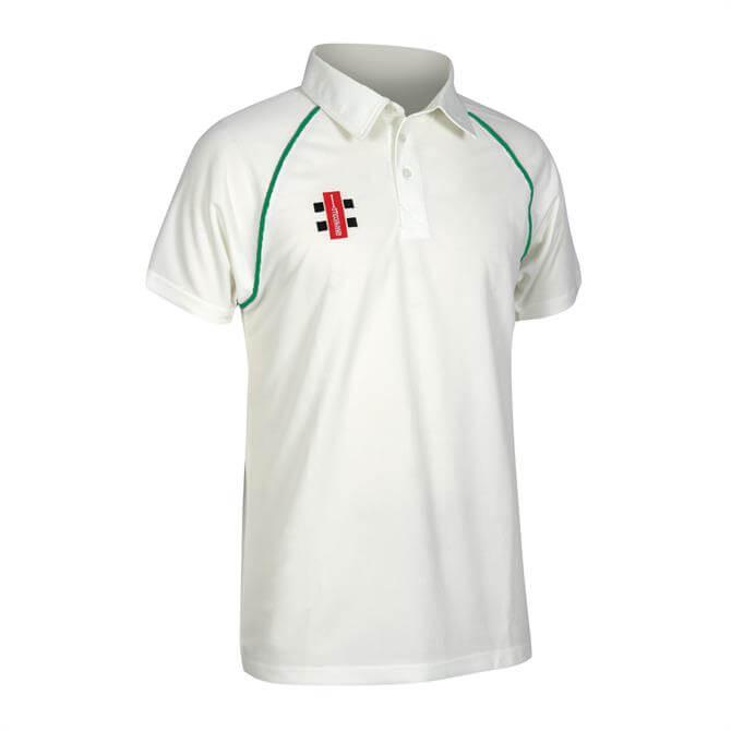 Gray Nicolls Junior Ivory Matrix Short Sleeve Cricket Shirt
