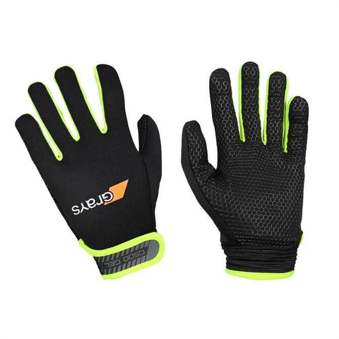 Grays G500 Gel Hockey Gloves - Black Yellow