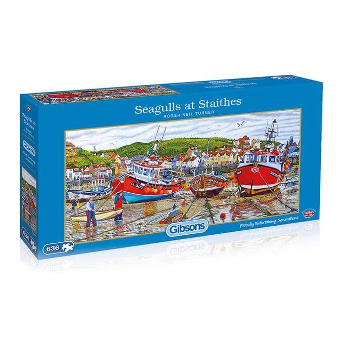 Gibsons 636 Piece Seagulls at Staithes Jigsaw Puzzle