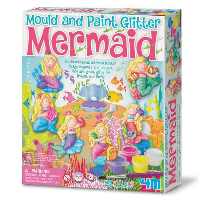 4M Mermaid Mould and Paint Glitter