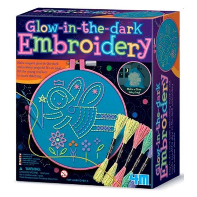 Great Gizmos 4M Glow in the Dark Embroidery Kit
