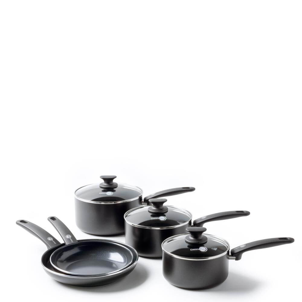 GreenPan Cambridge 5 Piece Non-Stick Saucepan & Frying Pan Set