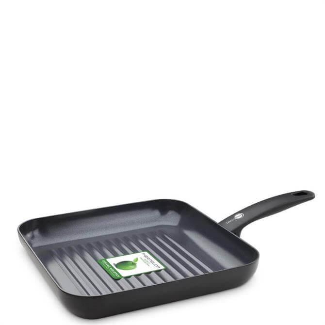 GreenPan Cambridge Black Ceramic Non Stick Square Grill Pan