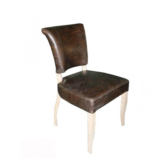 Bonneville Dining Chair Vintage Moleskin Fog Nibbed Oak