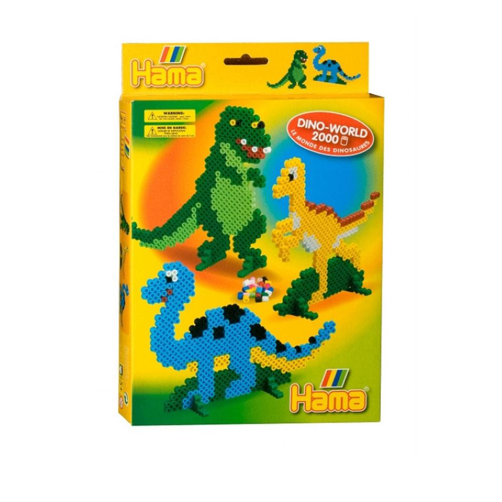 An image of Hama Dino World Set
