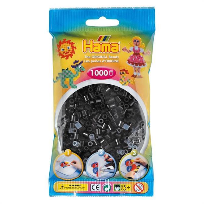 Hama Midi Beads 1000 Black