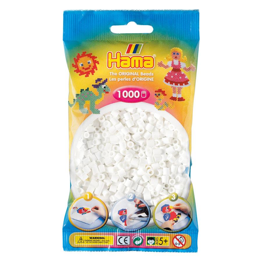 An image of Hama Midi Beads 1000 White