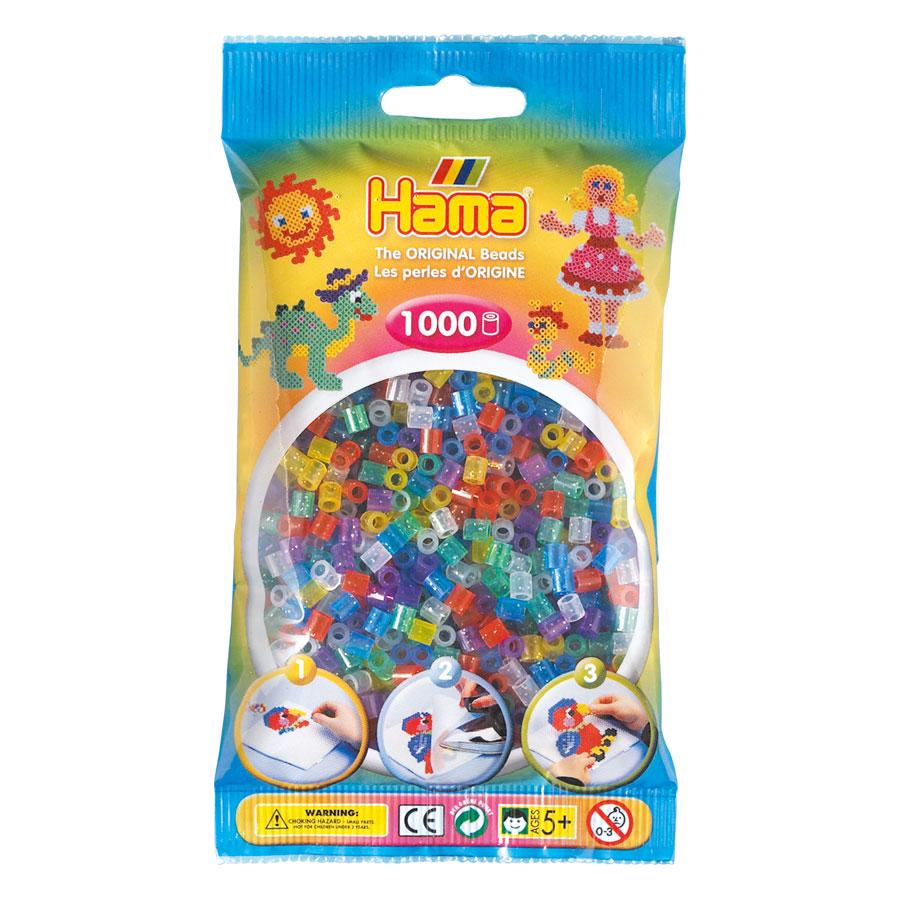 An image of Hama Midi Beads Mix 1000 Glitter