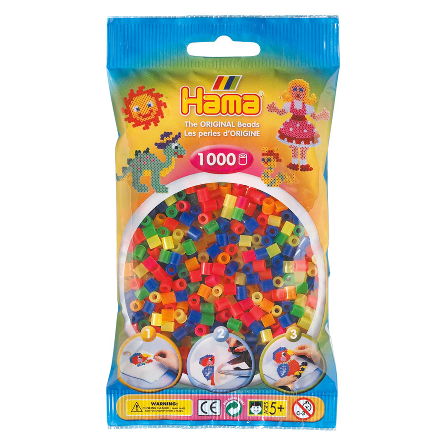 An image of Hama Midi Beads Mix 1000 Neon