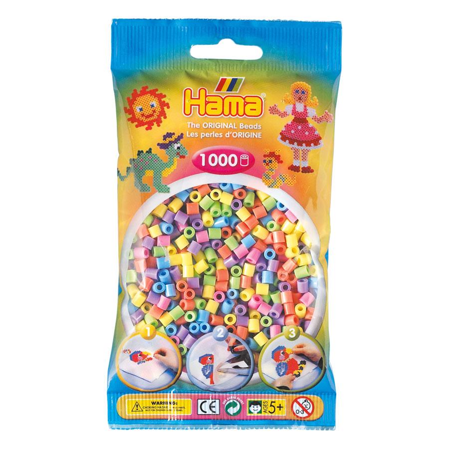 An image of Hama Midi Beads Mix 1000 Pastel
