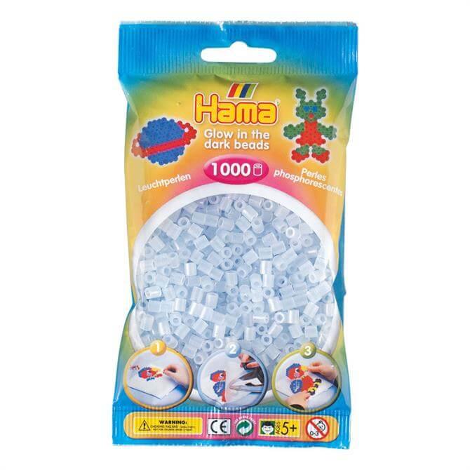 Hama Night Glow Clear 1000 Beads