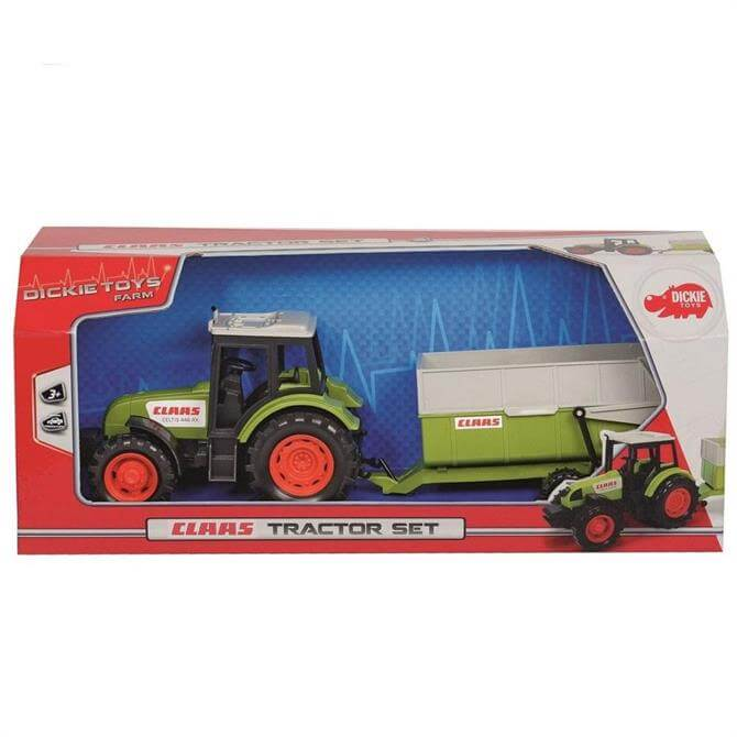 Dickie Toys Claas Tractor Set With Trailer