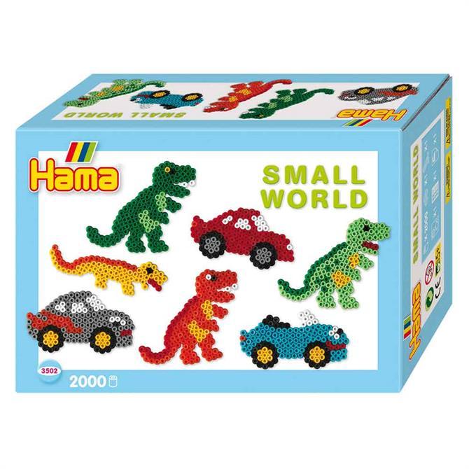 Hama Small World Dinosaur and Car Kit
