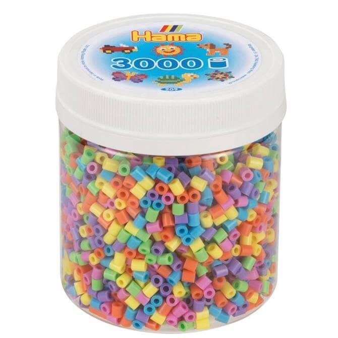 Hama 3000 Pastel Beads Tub