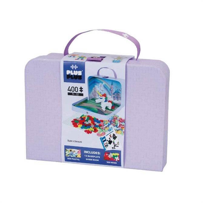 Plus-Plus Purple Carton Suitcase