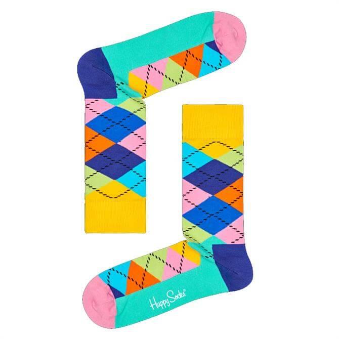 Happy Socks Bright Argyle Socks SS19