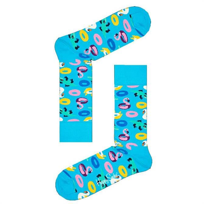 Happy Socks Bright Blue Pool Party Socks
