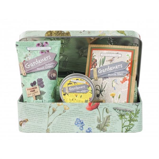 Heathcote & Ivory Gardener's Hedgerow SOS Tin with Hand Cream, SOS Balm & Muscle Sachet