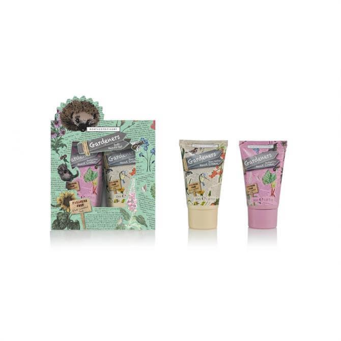 Heathcote & Ivory Gardeners Soft Hands Set of Hedgerow Hand Cream & Shea Butter Hand Cream 2 x 30ml