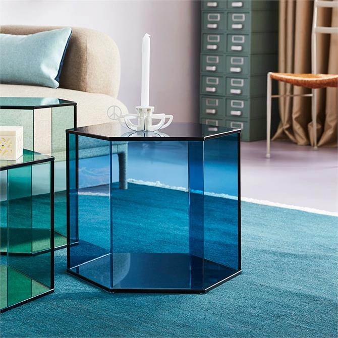 Accent Hexagon Large Coffee Table Blue Float