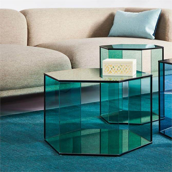 Accent Hexagon Medium Coffee Table Green Float